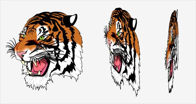 3d vector tiger